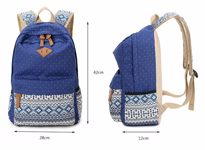 b6942f0776 Cute School Bags 2018 Fashion Style Women Book Bags Canvas Printing  Backpack Backpacks for Teenage Girls BP074. Size Information   aeProduct.getSubject()