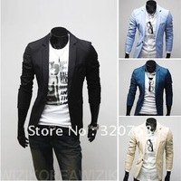 2013 Free Shipping New Men S Solid Color Suit Korean Slim Leisure Personality Suit Fashion Coat