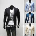 2013 free shipping new men's solid color suit Korean Slim leisure personality suit fashion coat size M-XXL  X15