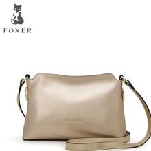 FOXER crossbody genuine leather bags for women 2016 spring and summer new flap bag retro shoulder bag messenger bag female bolsa
