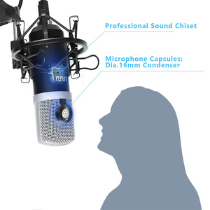 Image 3 - UHURU USB Podcast kondenser mikrofon 192kHZ/24bit profesyonel PC akış kardioid mikrofon kiti Youtube dizüstü bilgisayar Karaoke