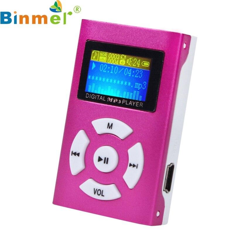 Binmer A-11 Splendid USB Mini MP3 Player LCD Screen Support 32GB Micro SD TF Card