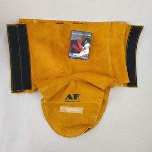 Image 5 - Профессиональные сварочные лопатки из воловьей кожи огнестойкая термостойкая Рабочая защитная крышка для обуви сварочная гетра