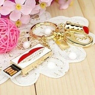 Fashion Jewelry Kiss Hickey USB Flash Drive 8GB 16GB 32GB 64GB USB 2.0 Flash Memory Stick Drive Pen/Thumb/Card Key Pendrive Gift