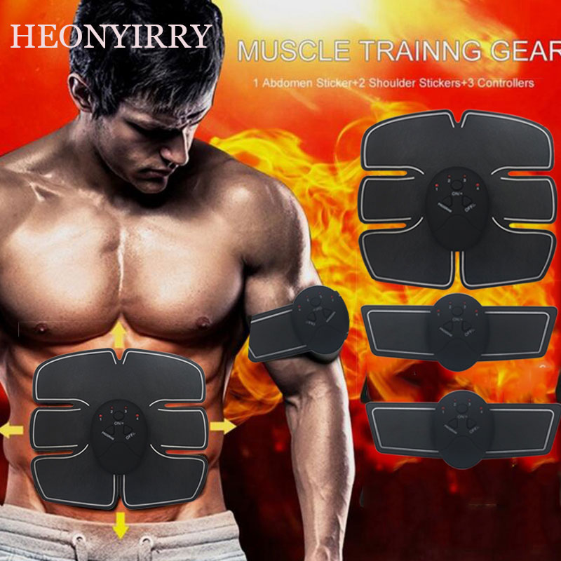 Drop shipping Abdominal machine electric muscle stimulator ABS ems Trainer fitness Weight loss Body slimming Massage with box free shipping 3pcs top quality pure garcinia cambogia extracts weight loss 75