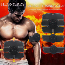 Drop shipping Abdominal machine electric muscle stimulator ABS ems Trainer fitness font b Weight b font