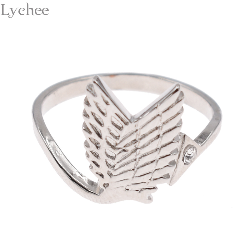 Lychee Trendy Alloy Attack on Titan Female Ring Silver ...