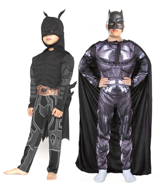 Free shipping Children kid halloween Cosplay party batman muscle costume with mask cape  sc 1 st  AliExpress.com & Free shipping Children kid halloween Cosplay party batman muscle ...