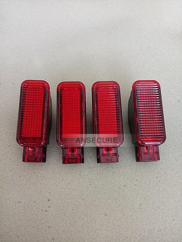 4 PCS Panneau De Porte Avertissement LAMPE intérieure de Lumière SOURCES DE LUMIÈRES Pour Audi A3 A4 A5 A6 A7 A8 Q3 Q5 TT RS Skoda Octavia