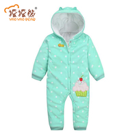 Newborn Clothes Baby Romper Long Sleeve Fleece Jumpsuit Baby Girl Costume For Spring Autumn Trouser Suit