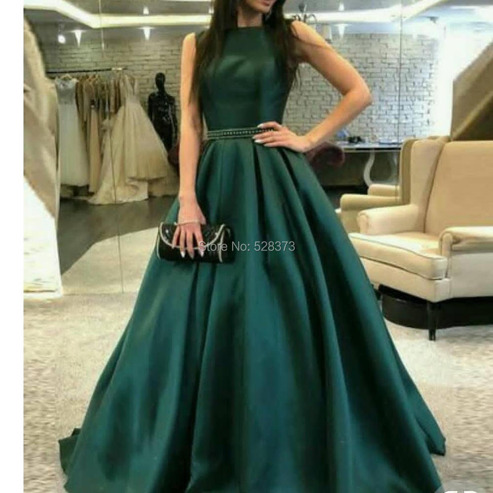 YNQNFS MD117 Elegant Floor Length Satin Sleeveless A-line Green Mother Of The Bride/Groom Dresses Outfits 2019