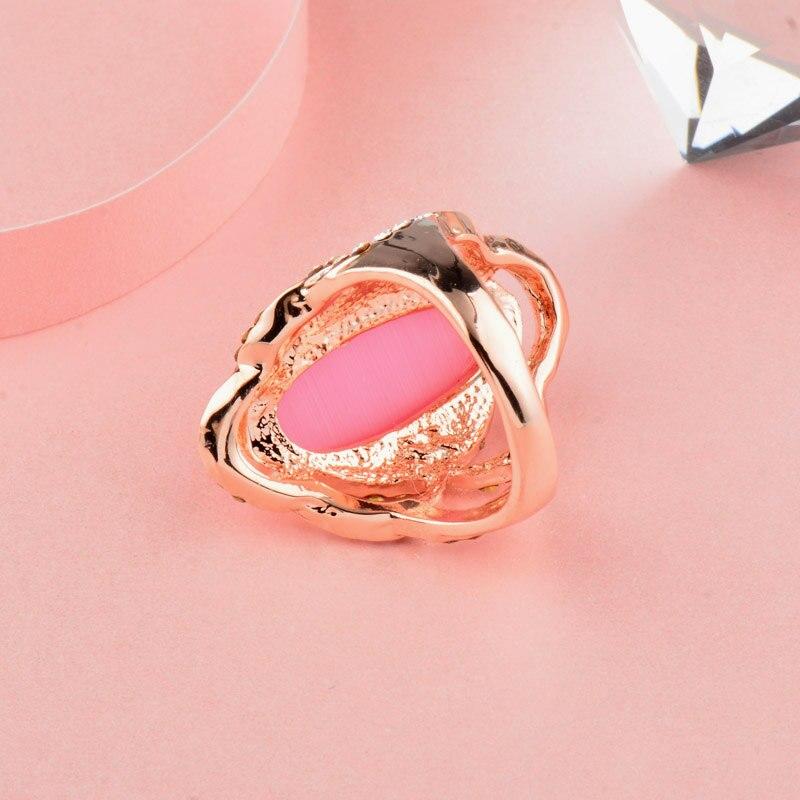 SINLEERY, женские роскошные овальные кольца с розовым опалом, большие кольца, размеры 7, 8, 9, розовое золото, свадебные украшения, аксессуары JZ560 SSH