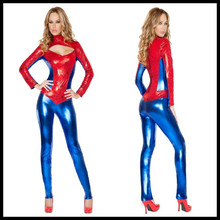 Sexy Superhero Costume red role-playing Spider-woman Jumpsiuts Costume For Womens Lycra  Halloween Carnival cosplay costumes