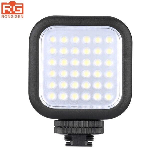 Orijinal Godox LED36 LED Video Işığı 36 LED Işıkları Lamba Fotografik Aydınlatma 5500 ~ 6500 K DSLR Kamera Kamera için mini dvr