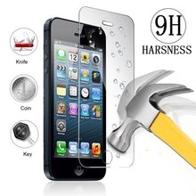Ultra Thin 0.26 mm 2.5D Premium Tempered Glass Screen Protector For iPhone 4s 4 HD Toughened Protective Film + Cleaning Kit