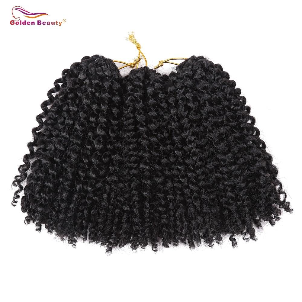 Golden Beauty 8inch Kinky Curly Syntetisk Braiding - Syntetiskt hår - Foto 2