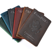 Leather USA Passport Cover Travel Men Leather  Cover The Passport America Cover Passport Pouch
