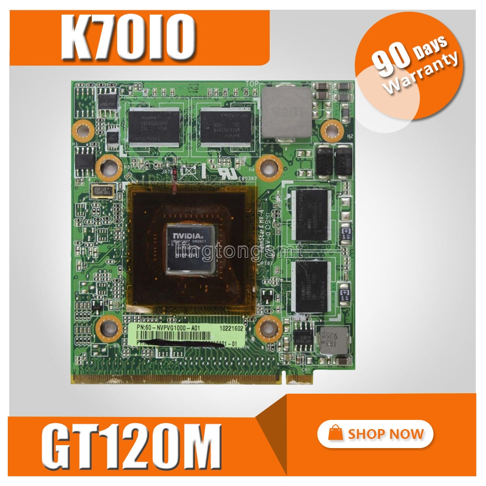 For ASUS K51 K51IO K70IO Graphics Card NVIDIA GeForce GT120M N10P-GV1 VGA GPU