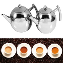 2018 Hot Sale 1/1.5L Stainless Steel Teapot Coffee Pot Kettle With Filter Stainless Steel Large Capacity Puer Tea Bag Green Tea цена в Москве и Питере