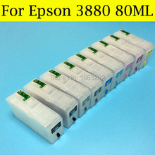 9 Pieces 80ML Ink Cartridges T5801 5809 T580 580 For Epson Stylus Pro 3880 Printer With