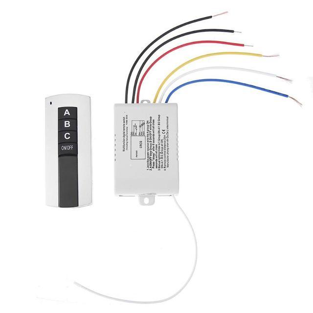 3 דרכים ON/OFF אלחוטי דיגיטלי שלט רחוק 220V 3 ערוץ אלחוטי דיגיטלי שלט רחוק מתג מנורה אור מאוורר פליטה