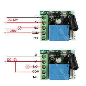 Image 5 - QIACHP 433Mhz Universal Wireless Remote Control Switch DC 12V 1CH Relay Receiver Module + RF Transmitter 433 Mhz Remote Controls