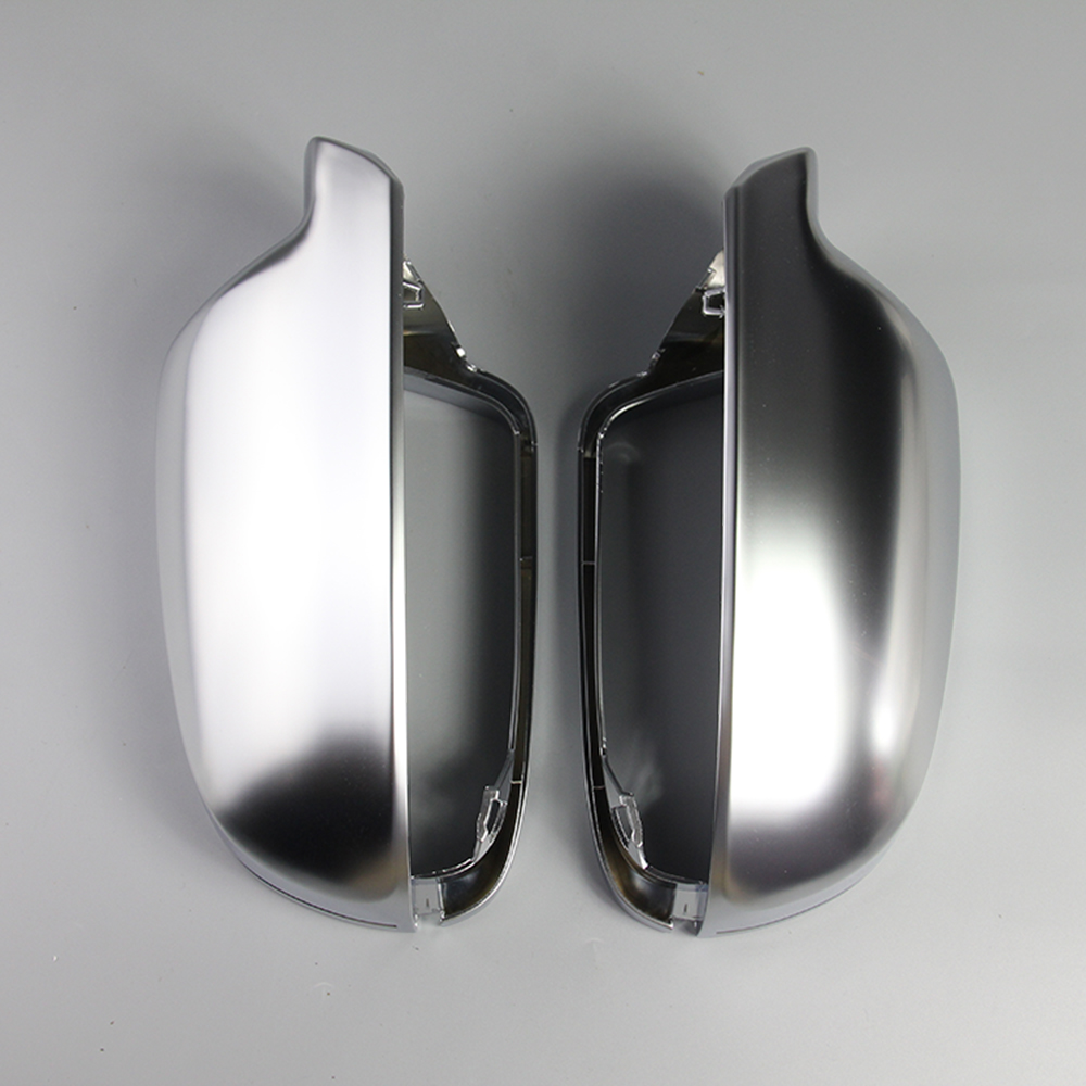 For Audi A3 A4 A5 1 Pair of Rearview Mirror Shell Cover Protection Cap Matte Chrome Wing Mirror Cover Car Styling