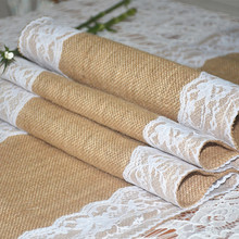 jute table runner & burlap table runner & lace table runner for wedding decoration Free Shipping 60 pcs