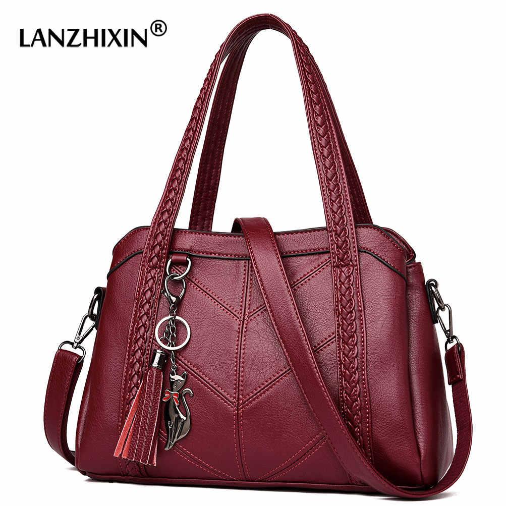 Luksusowe torebki damskie torebki projektant torebki skórzane Sac główna damska torba Crossbody kurierska Casual Tote Sac torba na ramię kobieta