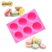 Molde de silicone wowcc macaron para bolos, molde para fondant, biscoitos, confeitaria, ferramentas de decoração de bolos