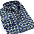 Mens Flannel Plaid Shirts The New Spring Camisa De Manga Larga Masculina Plus Size XXXXL Men Brushed Casual Shirts Mens