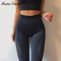 2018 Super Stretchy Gym Tights Energy Seamless Tummy Control Yoga Pants High Waist Sport Leggings Purple