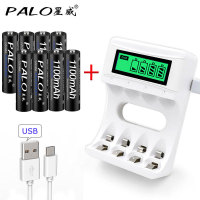 4 Slots Smart USB Intelligent LCD Display Battery Charger For AA AAA NiCd NiMh Rechargeable Batteries