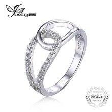 Jewelrypalace 925 cubic zirconia teardrop joyería anillo de la venda para las mujeres de calidad superior mejor buen regalo para las mujeres anillos