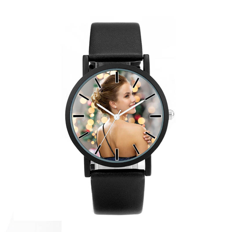 A3317w DIY Watch Photo Printing Wristwatch Customized Watches Logo Design Birthday Gift For Lover's Picture Customize Clock