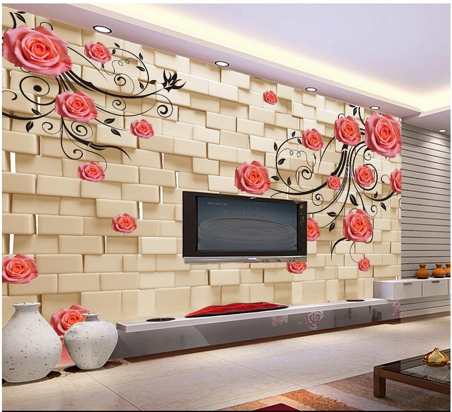 compare prices on vines painting online shopping buy low price custom 3d photo wallpaper 3d wall murals wallpaper 3 d rose tracery wall flower vine tv