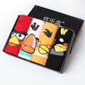 4 Pc/lote Angry Birds Dos Homens Boxers Roupa Interior de Algodão Sexy U Bolsa Convexo Cueca Boxer Shorts Masculino Calcinhas