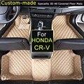 Para honda cr-v 2002-2005 cr-v 2006-2011 cr-v 2012-car tapetes carro tapetes Do Carro Styling Pé Tapetes Personalizados para CRV 2/3/4