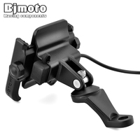 BJMOTO Universal Chargeable Motorcycle Mobile Phone Holder For iPhone Samsung GPS Mount to Rearview Mirror Stand
