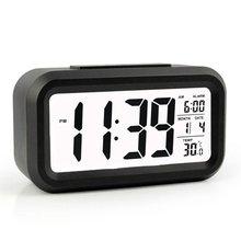 modern large-display digital alarm clock led with calendar electronic desk table clocks