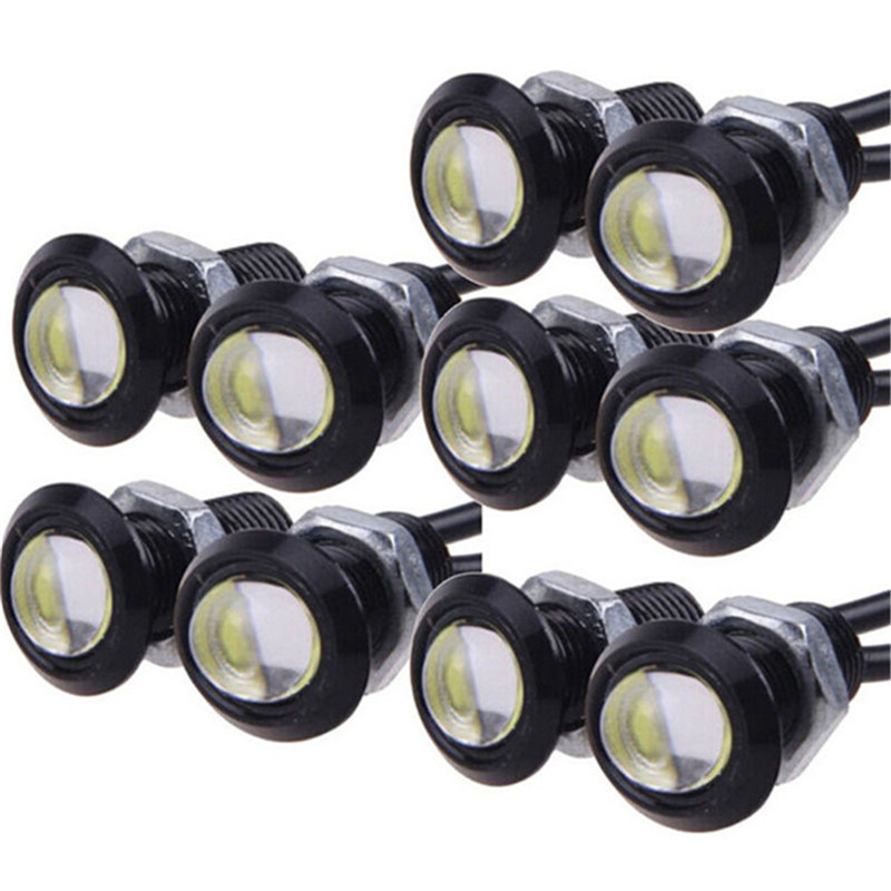 10 Pz/lotto Nebbia Drl Daytime 23 Mm 18 Mm 9 W Daytime Running Light Led Eagle Eye Luce Bianca Blu Giallo Rosso Colore Dc12v