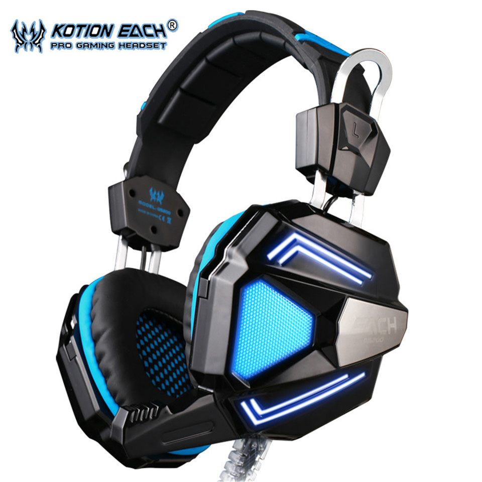 EACH G5200 7.1 Surround Sound Game Headphone Computer Gaming Headset Headband Vibration with Mic Stereo Bass Breathing LED Light original somic p7 headphones headband vibration game headphone 7 1 sound bass hifi folding gaming headset mobile pc earphone