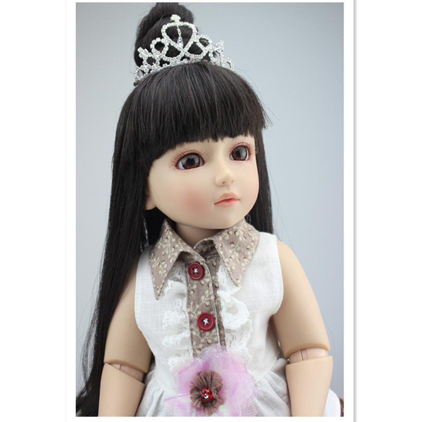 SD/Bjd Doll Girls Doll with Clothes Brown Eyes,Cute 18 Inch Cute Princess Doll Toys for Kid New Year Gift Free Shipping