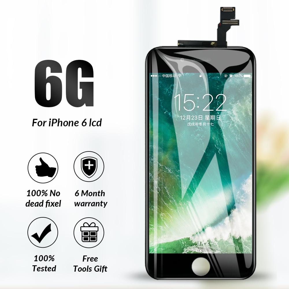 Grade AAA LCD Para iphone 6 Touch Screen Display Substituição Digitador Assembléia Completa para iphone 6 Ecran Pantalla Lcd Com Ferramentas