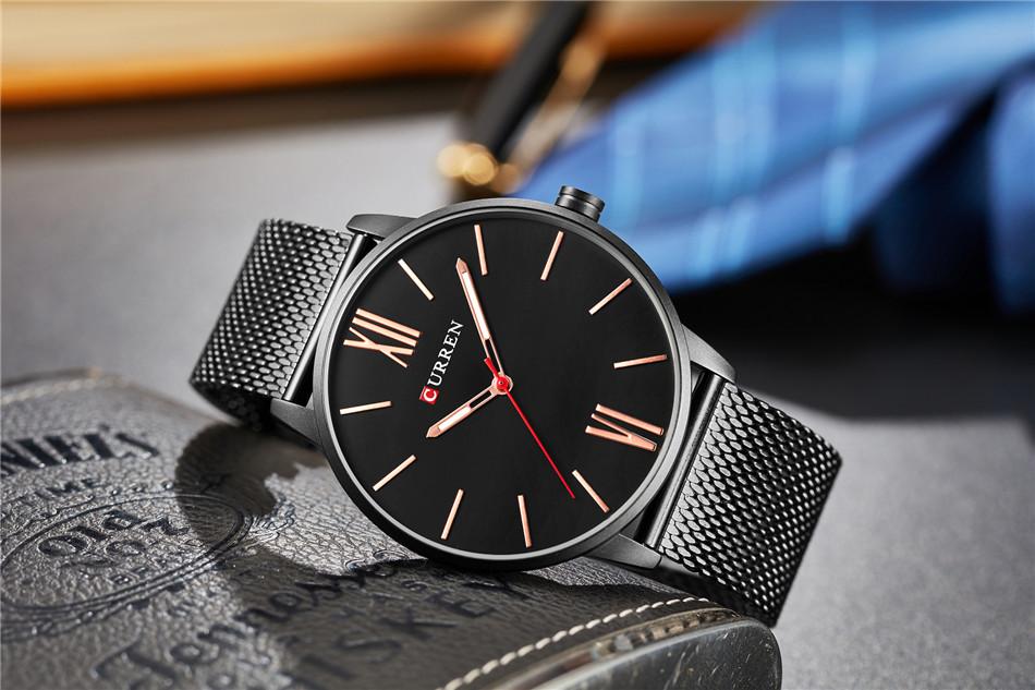 HTB1crkFRXXXXXXOaXXXq6xXFXXX2 - CURREN Luxury Stainless Steel Business Watch for Men
