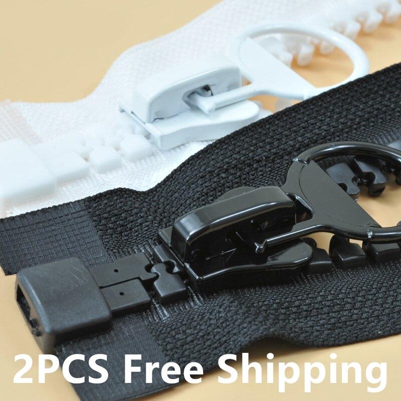 2pcs zippers #20 extra large plastic resin opening zipper bags outdoor tent Engineering zipper,long 60~300cm,wide:4.8cm
