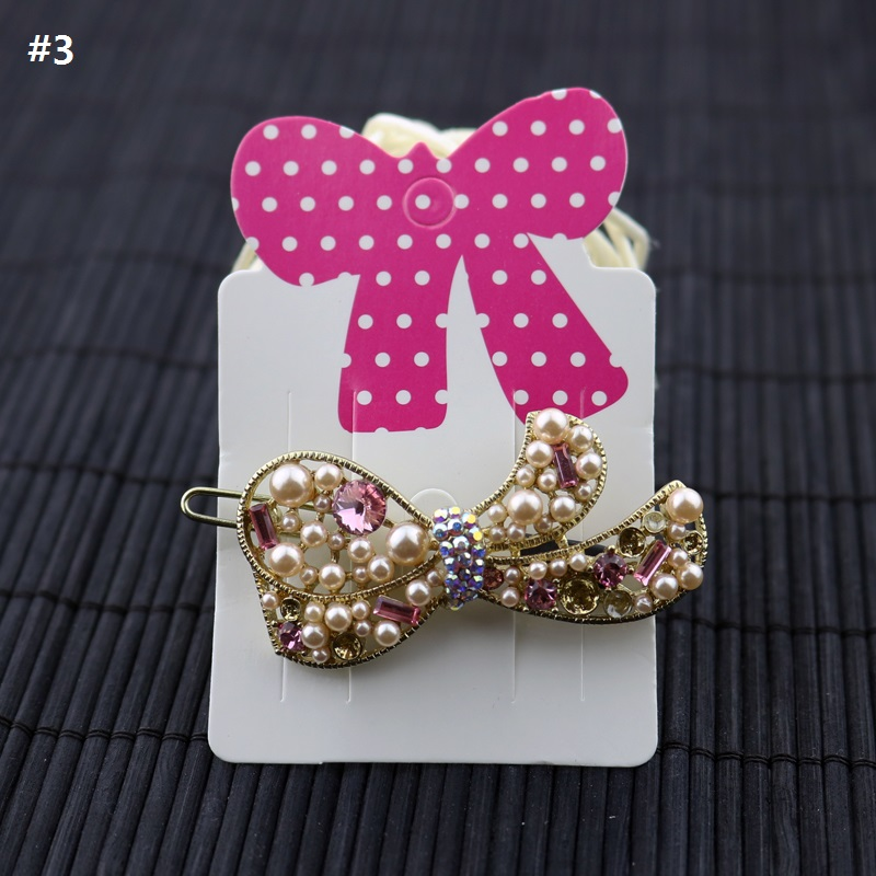 200pcs Hair Charm Display Packaging Card Bowknot Bow Hair Clip Hair Claws Hairgrips Hanging Paper Display Cards