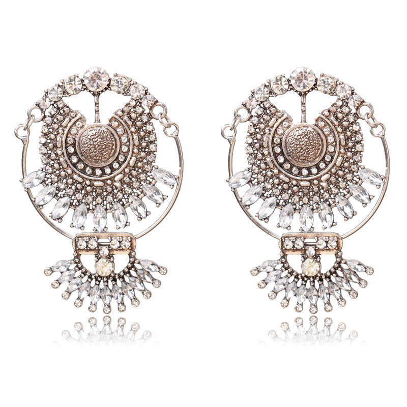 Ztech Ny Fashion Za Luksus Brand Rhinestones Vandfald Crystal - Mode smykker - Foto 2