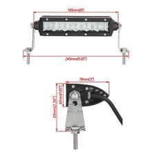 Auxmart 8″ 30W 5D LED Light Bar Led  Chips Spot/Flood Beam Offroad Work Light LED Bar 12V 24V ATV 4×4 4WD Trailer Trucks Pickup
