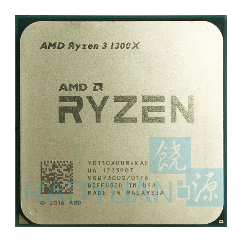 AMD Ryzen 3 1300X R3 1300X 3.5 GHz Quad-Core Quad-Thread CPU Processor YD130XBBM4KAE Socket AM4